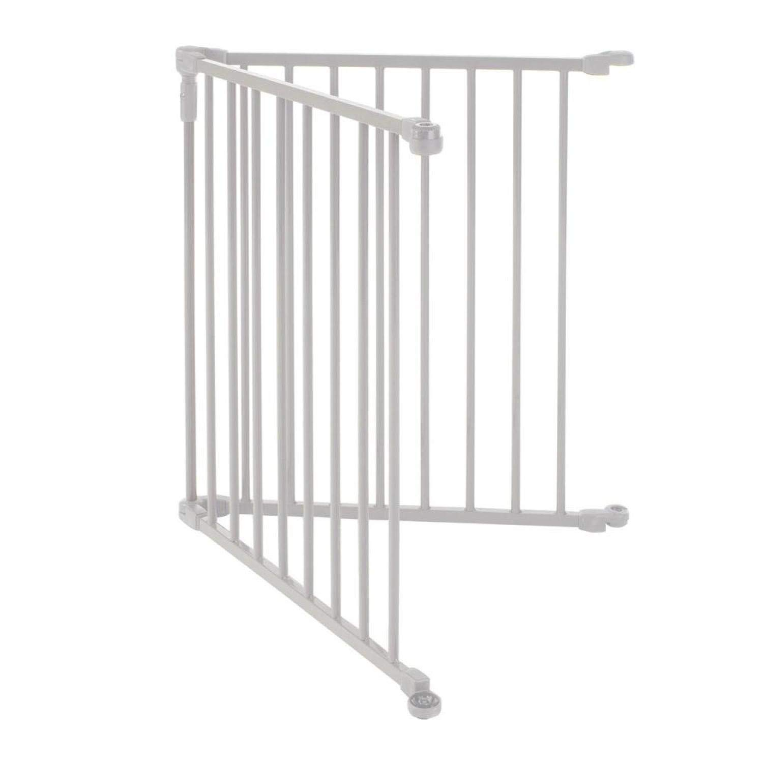 North States 2-Panel Extension for 3-in-1 Metal Superyard Adds up to 48 for an Extra-Wide gate or Play Yard 48 Width, Beige