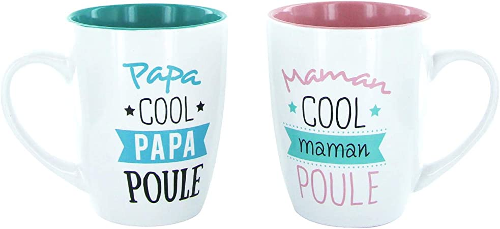 Sublimagecreations Coffret Duo Papa Maman Cool Papa Maman