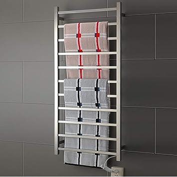 RENYAYA Estilo Recto Carril Escalera Tipo de Toalla eléctrica Calentador de Toallas Recta calienta toallero de Acero Inoxidable baño Radiador termostática, ...
