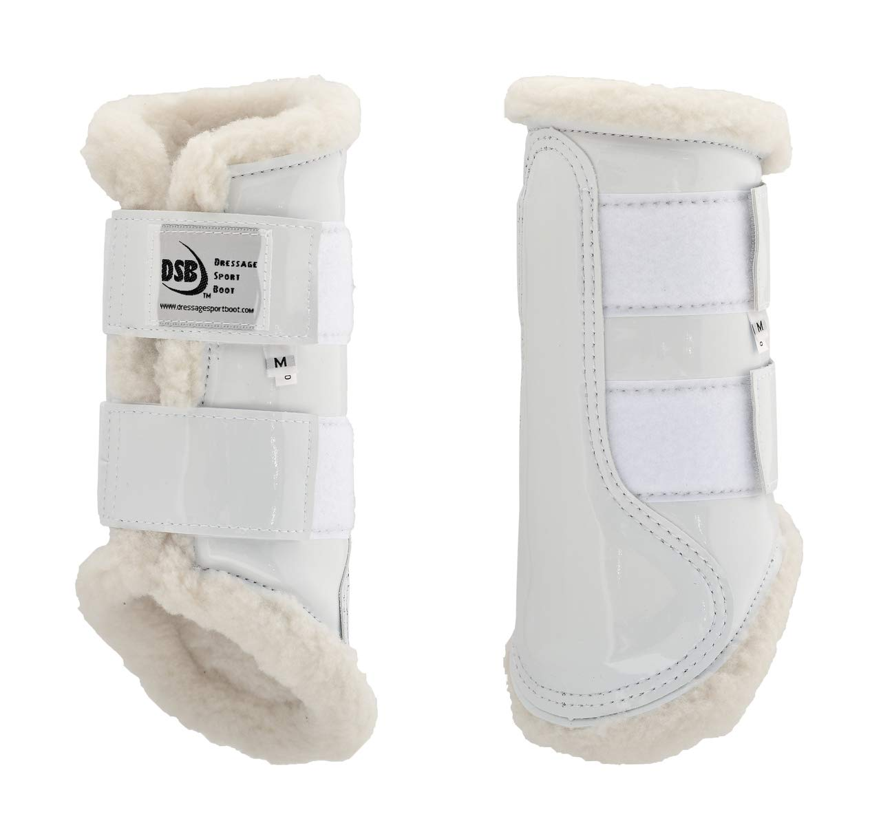 dsb The Glossy Dressage Sport Boot - White (Large)
