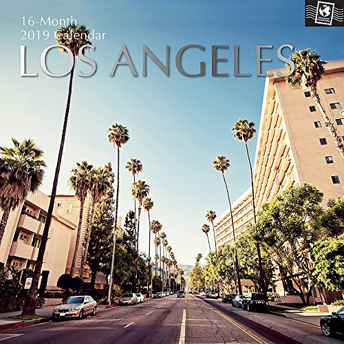 2019 Wall Calendar - Los Angeles Calendar, 12 x 12 Inch Monthly View, 16-Month, Travel and Destination Theme, Includes 180 Reminder Stickers