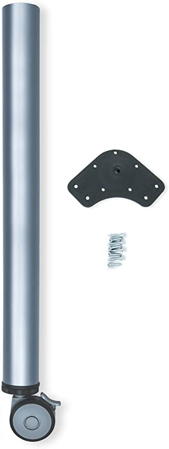Emuca 2034625 - Pata regulable para mesa con rueda con freno (Ø 60 ...