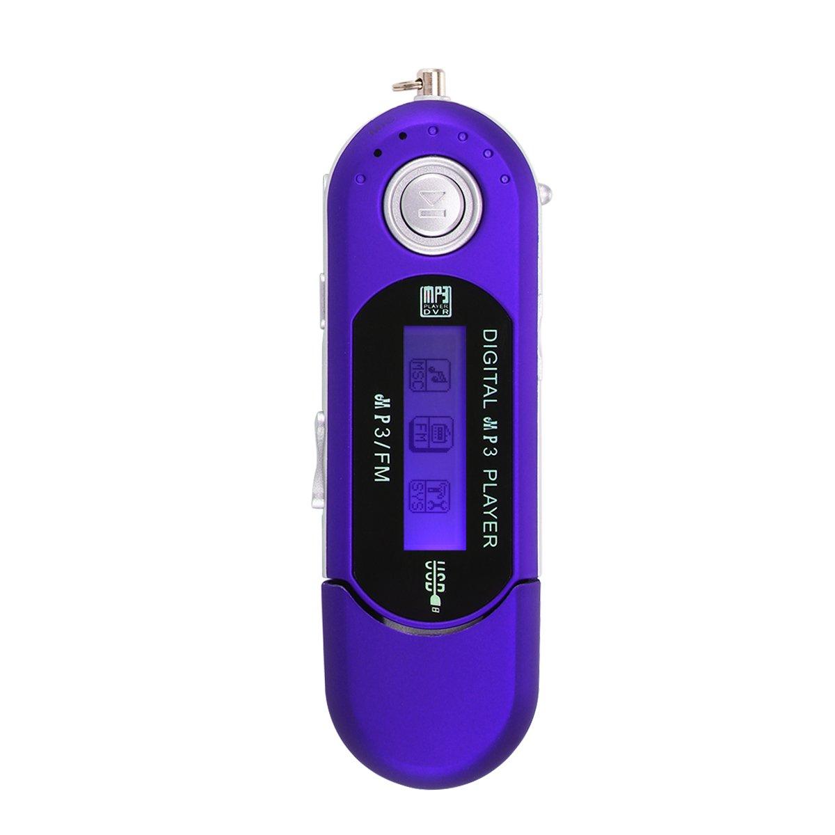 USB Port/ã/¡Til de MP3 Reproductor de M/ã/ºsica Digital LCD Ayuda de la Pantalla 32GB TF Card /& FM Radio-Blue TiooDre Reproductor de MP3
