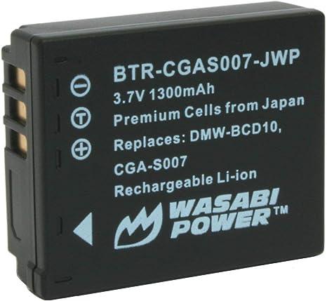 Batería compatible con Panasonic cga-s007//dmw-bcd10