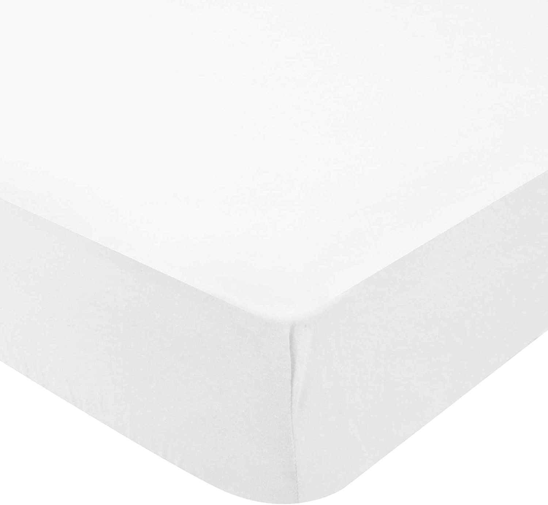 DOMIVA Drap Housse Jersey Bio 130 g//M/² Blanc 60 x 120 cm