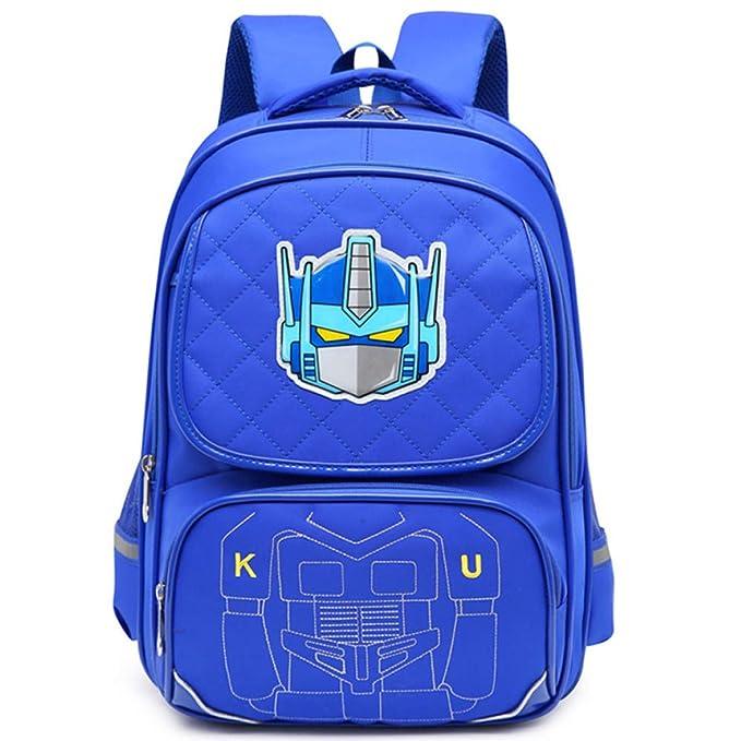 Transformadores Mochila Escolar Para Niños Mochilas Para Adolescentes Para Niños Y Niñas Mochilas 8-15 Años De Edad,Transformers(blue)-43 * 32 * 15cm: ...