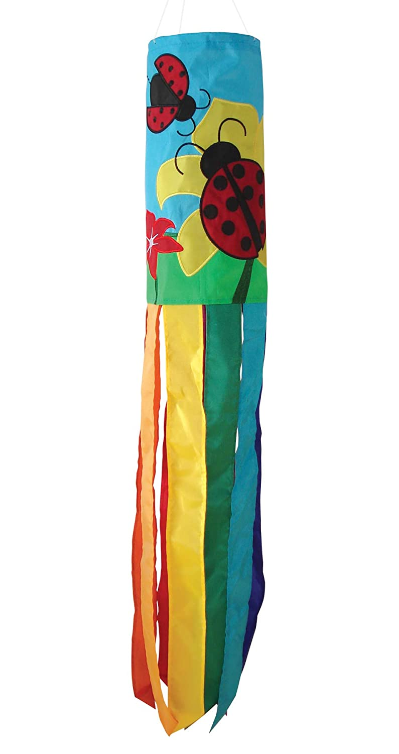 In The Breeze 40-Inch Ladybug Applique Windsock