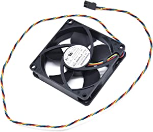 BAY Direct 12V 0.36A 4WIRE 4.32W 808020mm Replacement Rear Case Fan for Dell OptiPlex 790 990 SFF Compatible Part Number PVA080F12H 725Y7