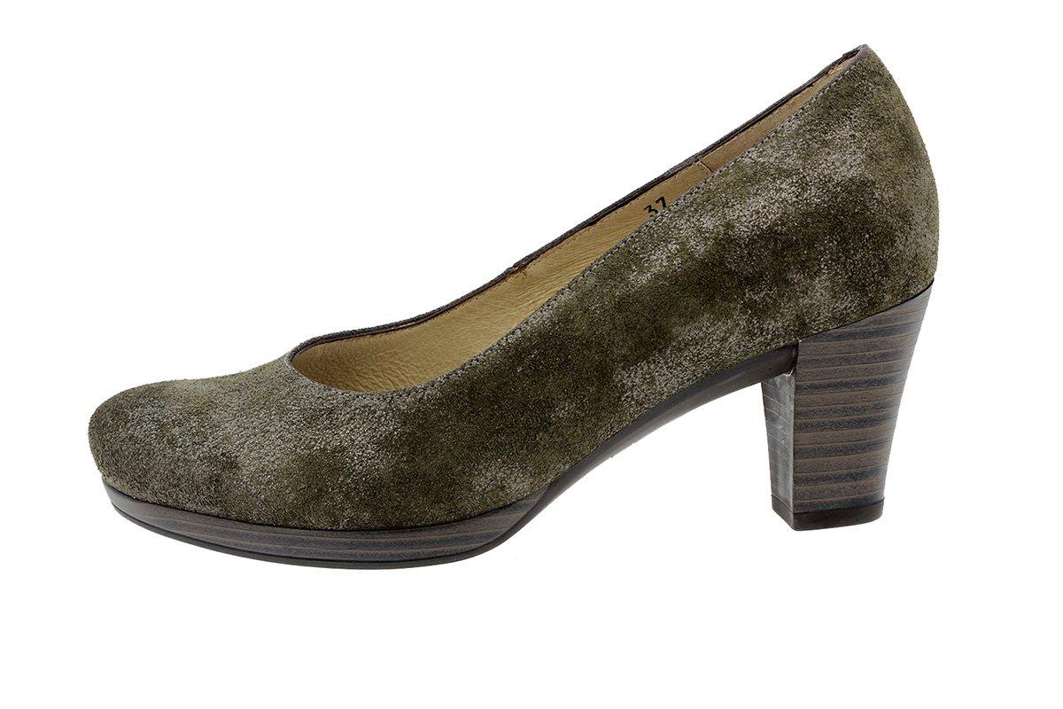 PieSanto Calzado Mujer Confort de Piel 9301 Zapato Salón Cómodo Ancho 37 EU|Carusoverde