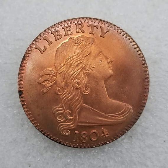 YunBest 1804 Moneda de un Solo Centro, Moneda Conmemorativa Estadounidense, Monedas sin Circular, Herramienta de enseñanza para niños, Hecho a Mano, BestShop: Amazon.es: Hogar