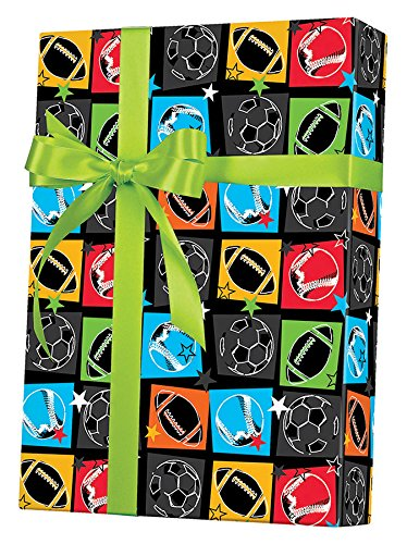 Sports Enthusiast Gift Wrapping Paper Roll - 24