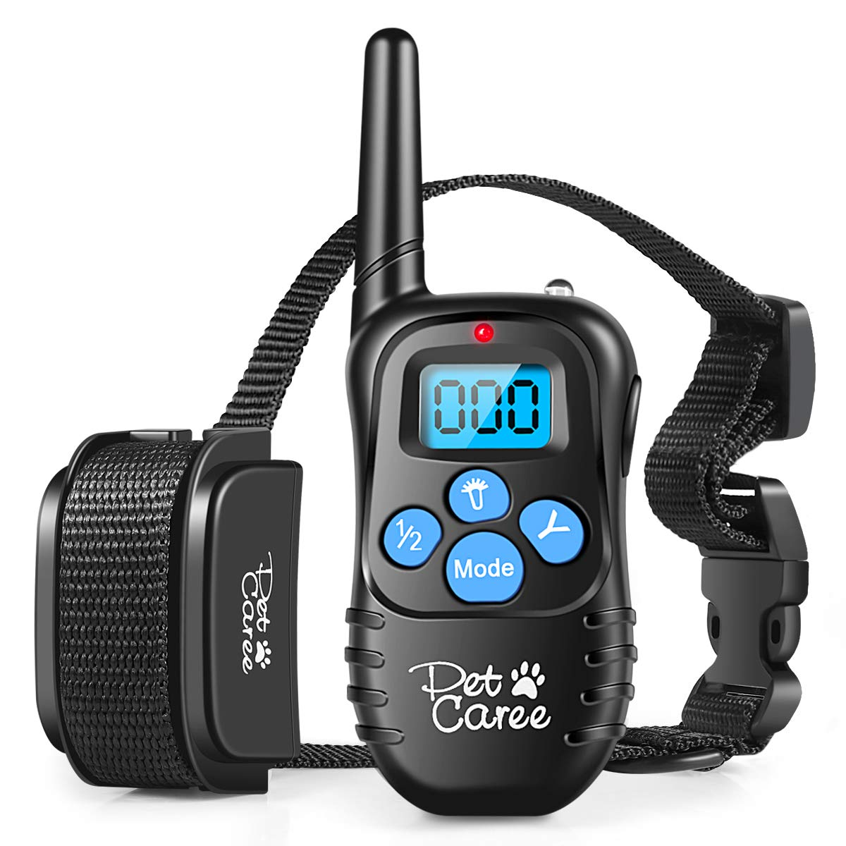 PET CAREE Dog Training Collar, 100% Rainproof Rechargeable Electronic Remote Dog Shock Collar 330 Yards with Beep/Vibrating/Shock Electric E-Collar