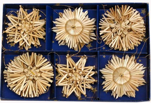 (Straw Star Ornaments - 24 pc)