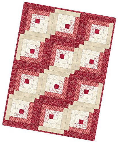 Robin Kingsley The Little Things Log Cabin Pod Quilt Kit Maywood (Honey Bee Craft Scissors)