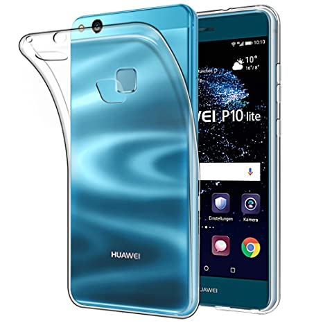 Funda Huawei P10 lite,Anjoo Transparente Silicona TPU ...