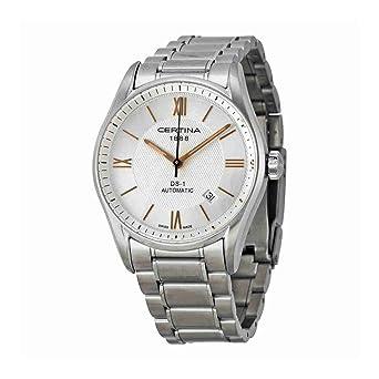 Certina - Reloj Analógico de Automático para Hombre, correa de Acero inoxidable color Plateado: Amazon.es: Relojes