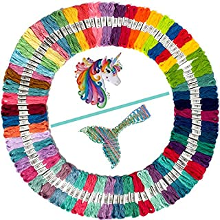 Embroidery Thread Unicorn and Mermaid Color Palettes - Friendship Bracelet String - 100 Embroidery Floss Coded as Embroidery Numbers - Cross Stitch, Thread or String Craft - Best Bracelets String Set