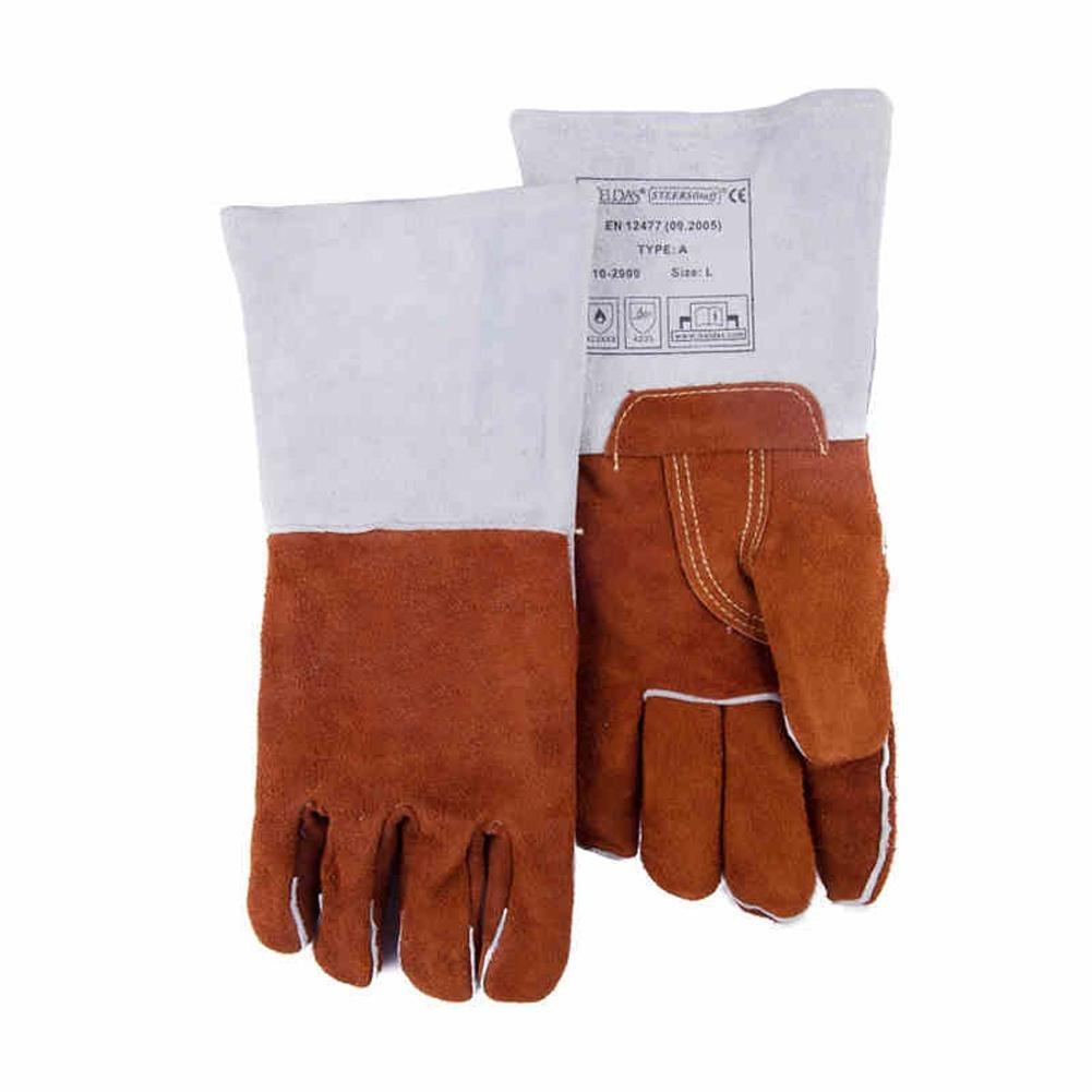 Resistant to 250 degrees high temperature welder gloves gas welding extended wear thickening insulation labor safety products safety gloves , l