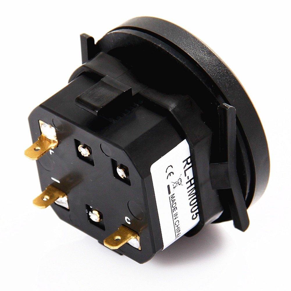 Searon Digital Round Hour Meter 110v 120v 220v 230v Ac Dc To Generator Wiring Diagram Tachometer For Atv Lawn Mower Chainsaw Compressor Tiller Chipper Automotive
