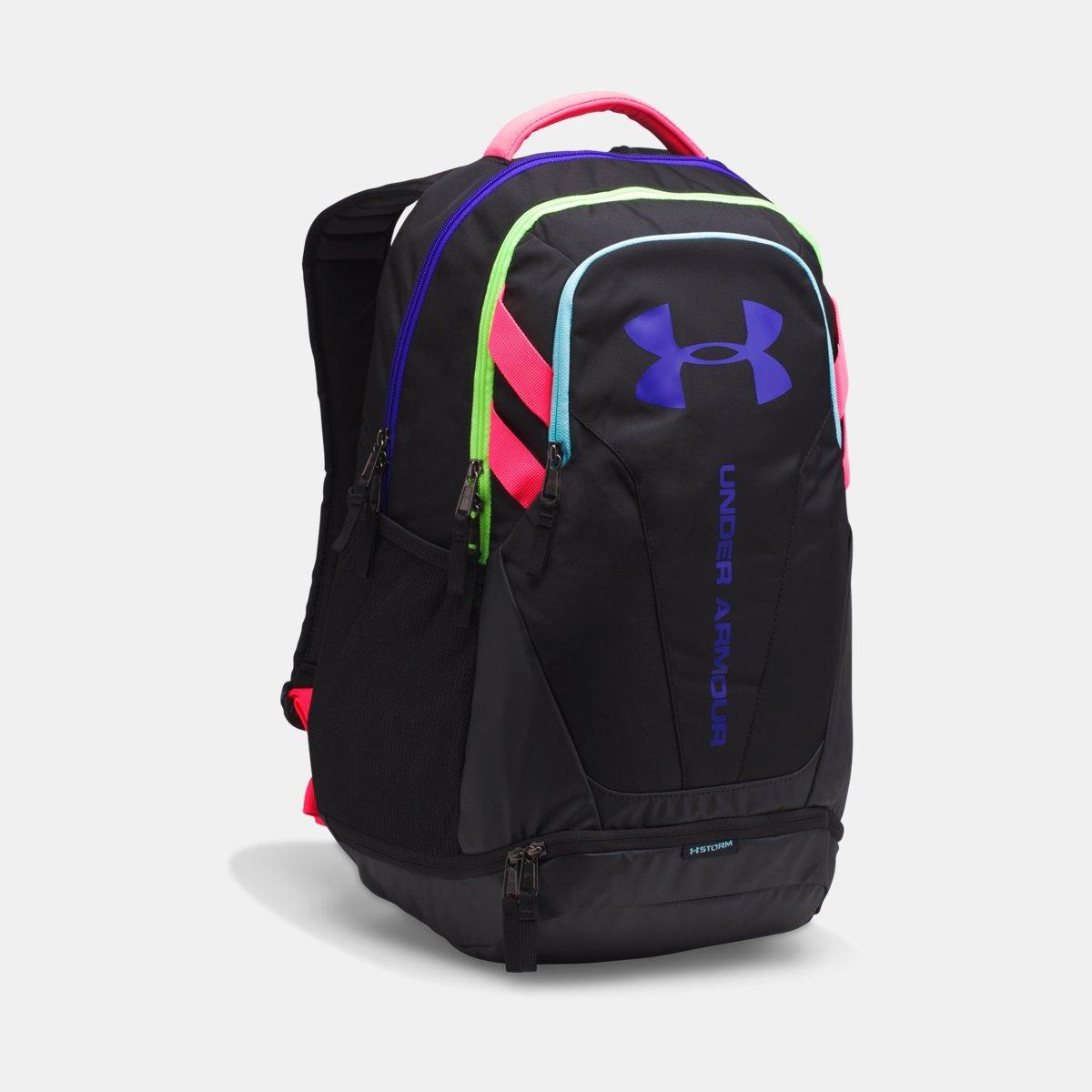 [UNDER ARMOUR] アンダーアーマー Men's UA Hustle 3.0 Backpack Black /Black [並行輸入品] B0753C1GML
