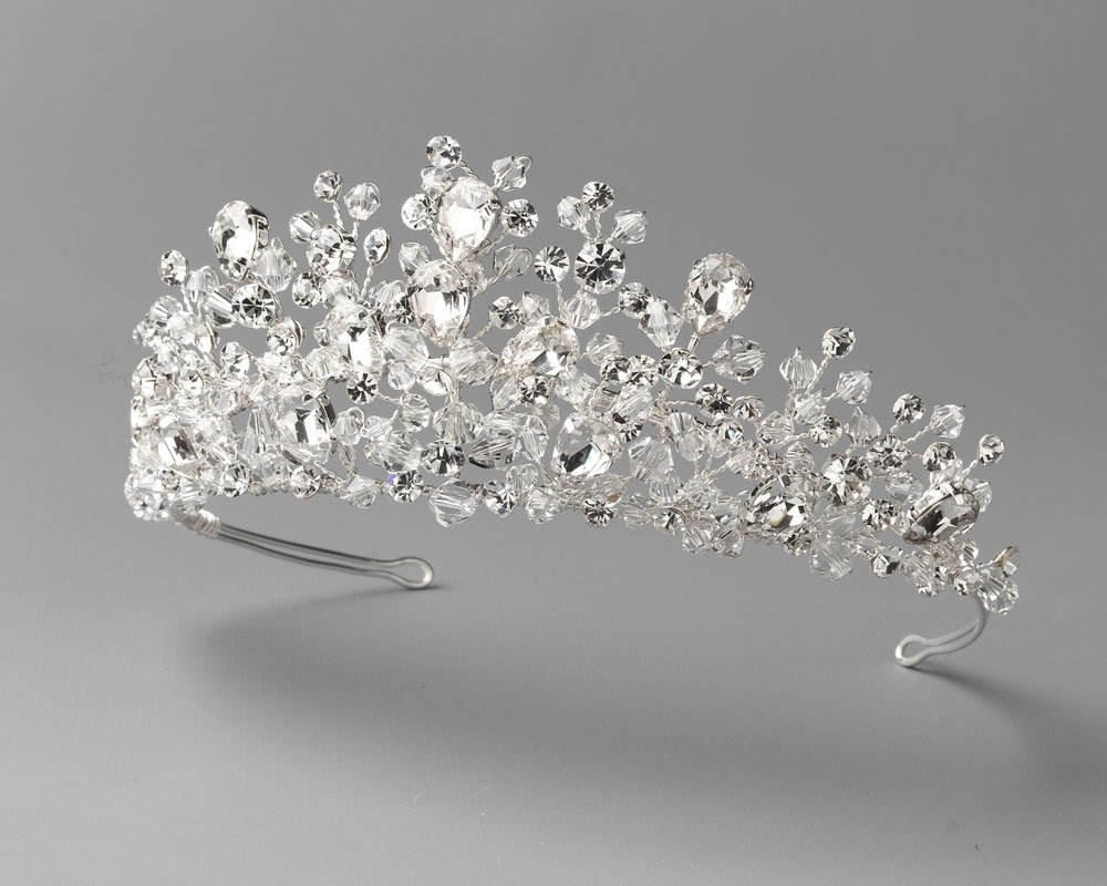 USABride Swarovski Crystal Wedding Tiara Bridal Headpiece Crown Bride Wedding Day TI-3299 by USABride (Image #2)