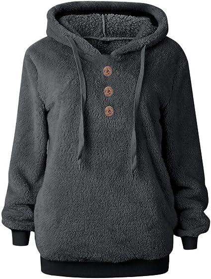 Wtouhe Sweat /à Capuche Femme Polaire Manteaux Doux Hoodie Hiver Chaud Pullover /Épaisse Veste /à Capuche Doubl/ée Blousons Sweat-Shirts 2019 Nouveau