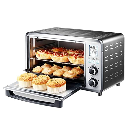 Mini horno eléctrico 30L, termostato ajustable 1500W, tostadora ...
