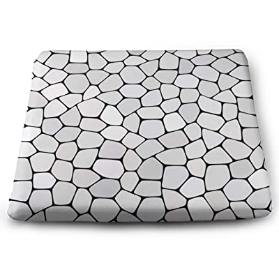 Tinmun Square Cushion, Stone Plate Paving Abstract Geometric Large Pouf Floor Pillow Cushion for Home Decor Garden Party: Home & Kitchen