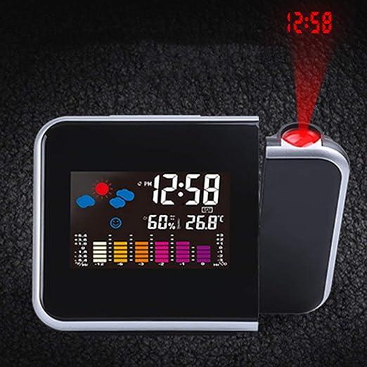 KinshopS Reloj Digital Electrónico Previsiones Reloj Proyector ...