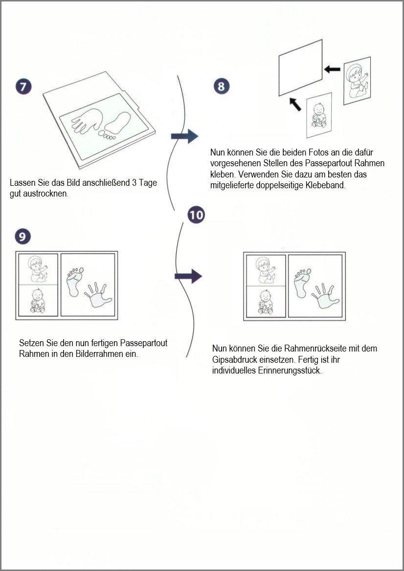 Premium Baby Handabdruck und Fußabdruck Bilderrahmen Set - das ...