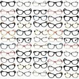 50 Pairs Designer Style Fashion High Quality Premium Optical Reading Glasses Wholesale Lots Bulk +1.00 to +3.50 (Assorted Colors/Style/Strengths)