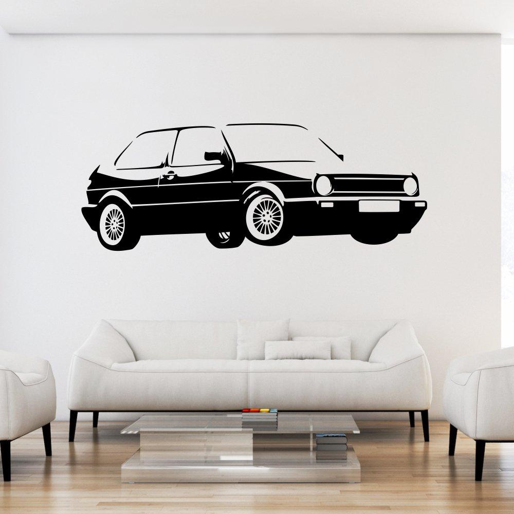 Malango® Wandtattoo - Auto Fahrzeug Tuning Wand Tattoo Wandaufkleber Autowelt Autowelt Autowelt Männerwelt Design Style Aufkleber ca. 160 x 59 cm schwarz 780b75