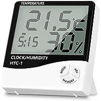 KinGrow Multifunctional Temperature Humidity Monitor, Indoor Thermometer Indicator Hygrometer Gauge Home Office Garden Indoor Grow Tent