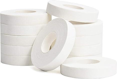 TOBWOLF 12 cintas atléticas para dedos, 1,25 cm x 10 m, de algodón, resistente al desgaste, cinta protectora de dedos para Judo, levantamiento de ...
