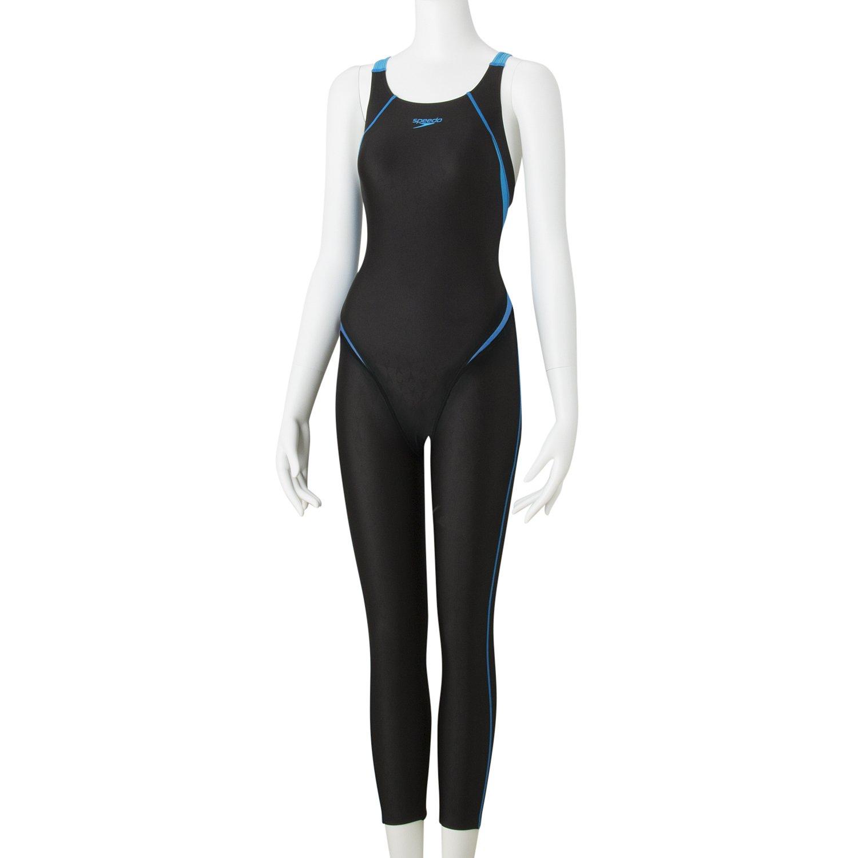 Speedo(スピード) 水着 レディース 競泳 フレックスシグマ 2 ロングジョン SD48G08 Medium ブラック×ターコイズ B078KHP2VG