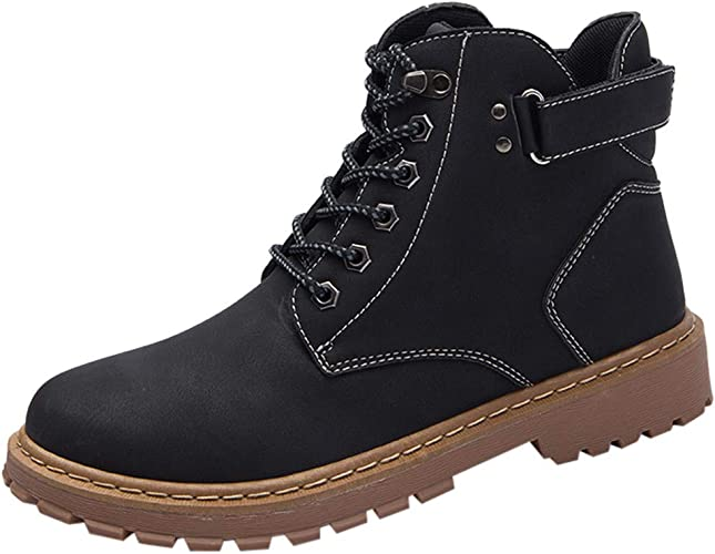 Men's Work Shoes Casual Leather Low-Cut