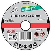 Wolfcraft 8460000 8460000-3 Discos de Cortar para Metal