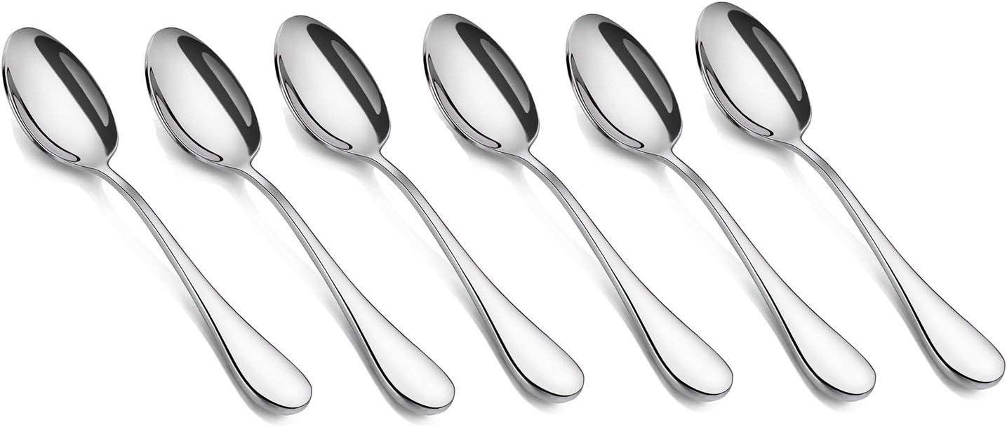 Juego de 12 cucharas de t/é para Postre y caf/é Nubstoer Acero Inoxidable 18 cm