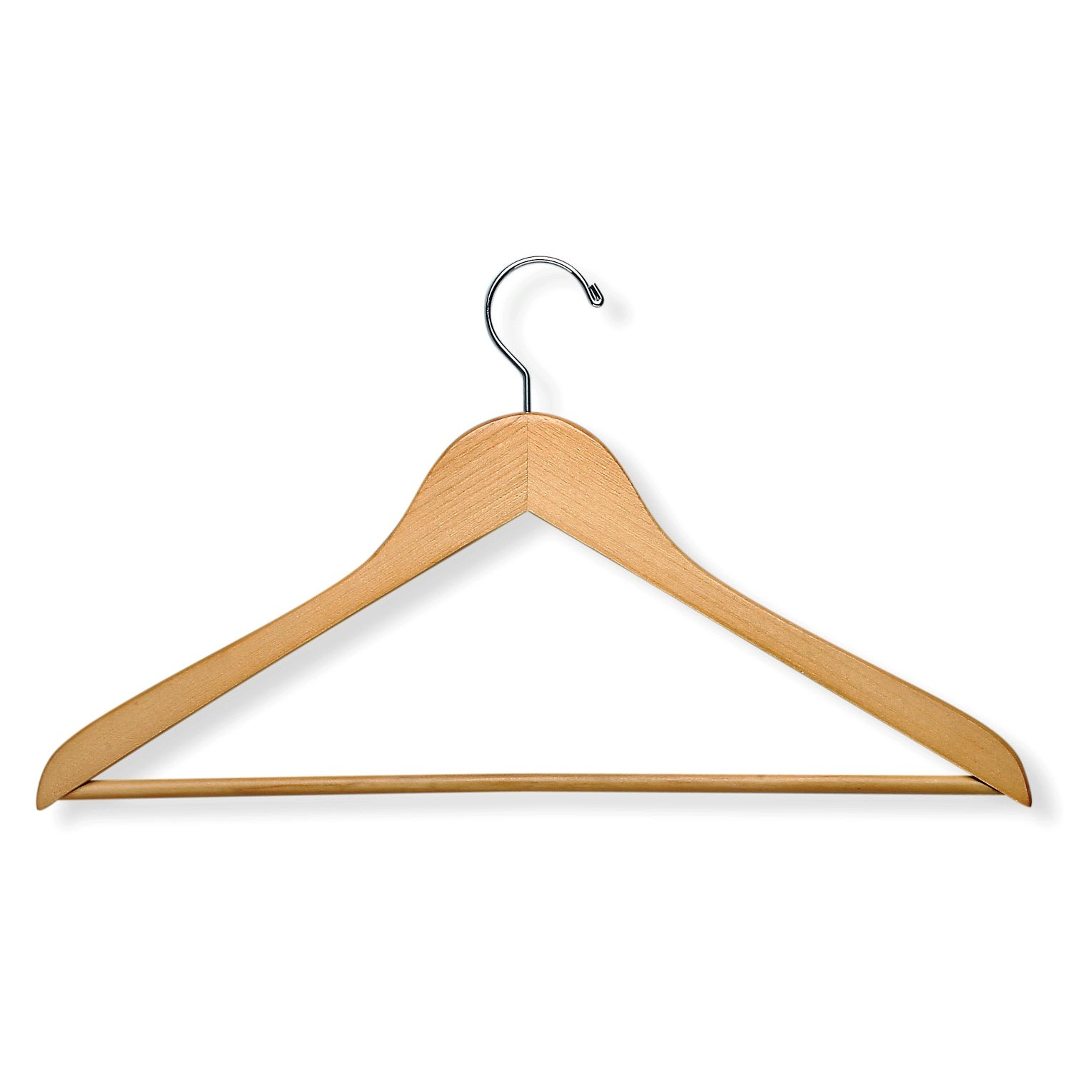 Honey-Can-Do HNGZ01206 Wood Suit Hangers with Non-Slip Bar 8-Pack Maple