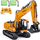 DOUBLE E Remote Control Excavator Toy Metal Shovel 17 Channel Hydraulic 2 Batteries RC Excavator Full Functional…