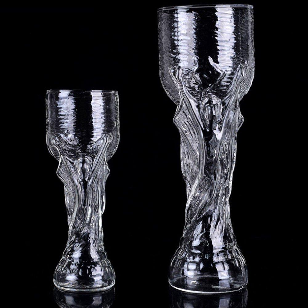 Bicchiere con motivo: mondiali Russia 2018 FIFA per birra 400 ml whisky vino Vetro Borosilicato vetro ideale per una festa di tifosi succo e acqua in vetro borosilicato trasparente