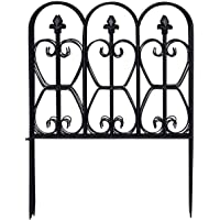 Deals on Costway Folding Decorative Garden Fence w/5 Coated Metal Panels