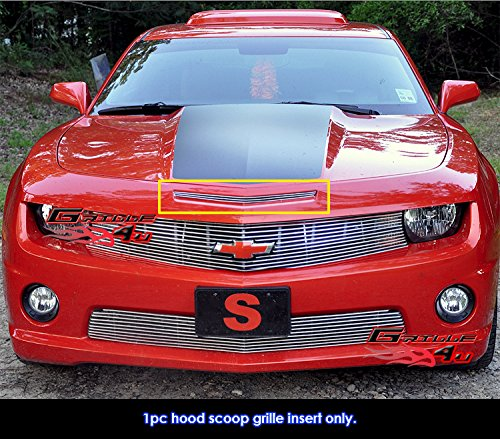 Chevy Hood Scoops (For 2010-2013 Chevy Camaro Hood Scoop Billet Grille Grill Insert)