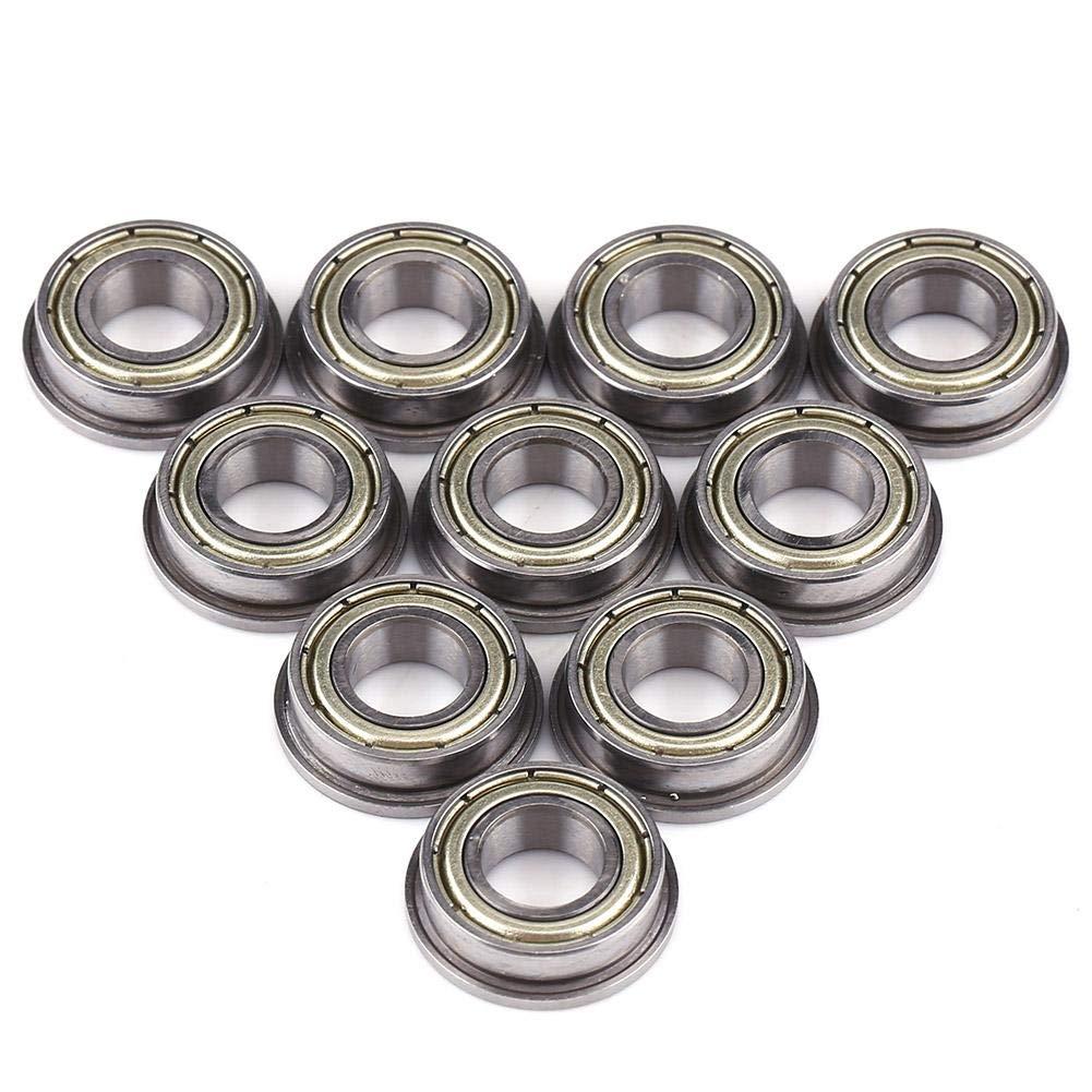10 Unids F688ZZ 8X16X5mm Rodamientos De Bolas Rodamiento De Miniatura Blindado Doble Rodamientos De Acero Con Bridas De Bolas De Metal Para Proyectos De Varilla//Eje De 8mm Equipamiento Mec/ánico