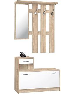 AVANTI TRENDSTORE Garderobe Weisses Eichenholz Circa 95 X 180 25 Cm