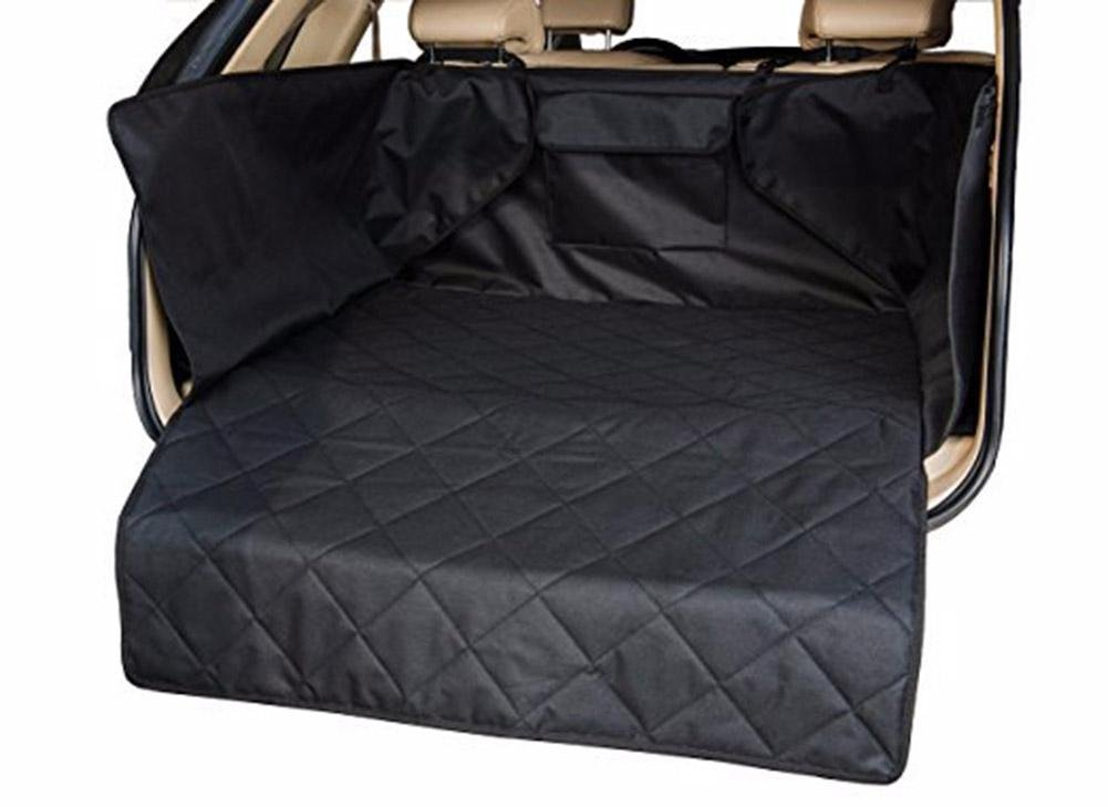 Black Dog Seat Cover for Car Waterproof Nonslip Backing With Seat Anchors Universal Pet Car Seat Travel Seat Cover ZD-119 , black