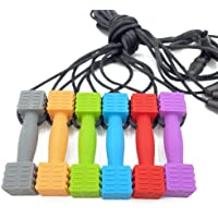 BMBN Zintuiglijke kauwketting, 6 stuks siliconen kauwen hanger training en ontwikkeling speelgoed voor kinderziektes…