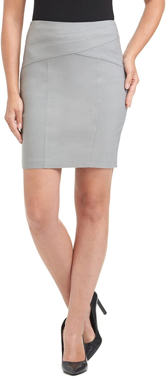 Rekucci Women's Ease in to Comfort Modern Pull-On Skirt for Office to Casual