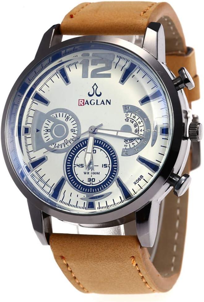 Longra⏱ 💎 Reloj Casual! Reloj de Malla de Acero Inoxidable para Hombres Reloj para Negocios Informales Cuarzo con dial Simple