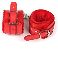 2021 New Fluffy Wrist Leather Handcuffs Bracelet Soft Plush Lining Wrist Handcuffs Bracelet Leg Cuffs Role Play Exercise…